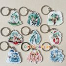 Hatsune Miku Cosplay Miku Key Chains for Cars Bags Pendants Rin Charm Collection VOCALOID Keychains