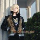 Yuri!!! on Ice Cosplay Costume Yuri Plisetsky Black Tiger Shirt and Leopard Coat jacket