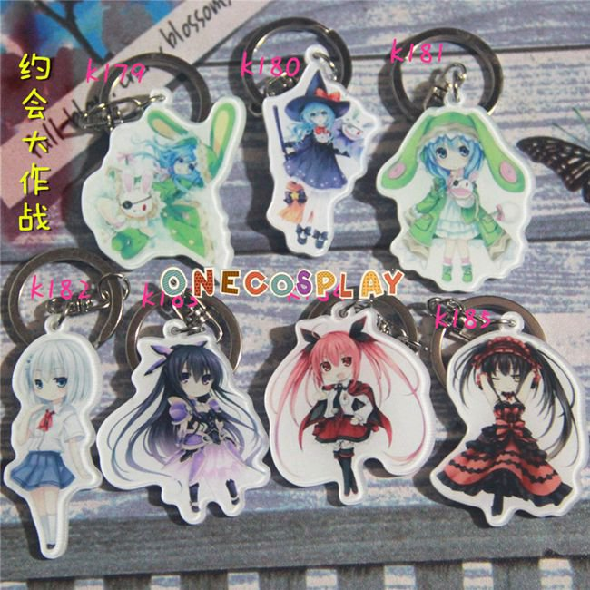 DATE A LIVE Cosplay Accessories Key Chains Yoshino Keychains  for Cars Bags Pendants