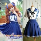 Navy sailor suit cosplay suspenders lolita princess dress braces skirt student clothes French maid