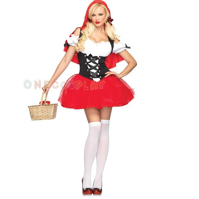 halloween costumes sexy cosplay little red riding hood fantasy game uniforms fancy dress outfit
