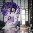 Ainme Naruto Cosplay Costume Hyuuga Hinata Cosplay Kimono Onsen Yukata