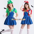 Super Mario Cosplay Costumes Luigi Brothers Costumes Fancy Dress Complete Uniform Set for Hallowee