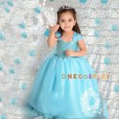 Elsa Cosplay Costume For Kids Sleeveless Princess Dress Fairy Tales Princess Children Dress