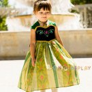 Exquisite Princess Dresses Anna Cosplay Costume Dress Children Costume Fairy Tales Princess Dress