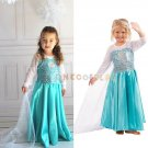 Fashion Children Party Pincess Dress Anna Elsa Baby Girls Dresses Princess Cosplay Dress for Kids