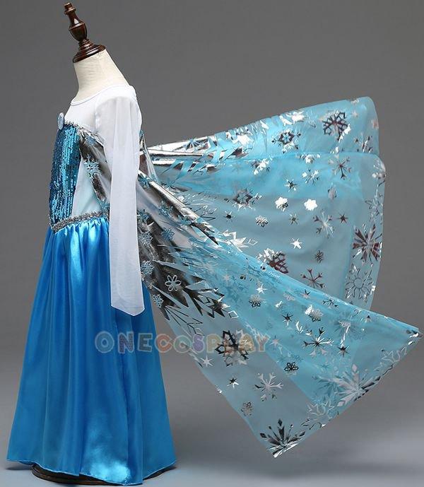 Printing Princess Dresses for Kids Snow Queen Elsa Dress Children Cosplay Costume Formal