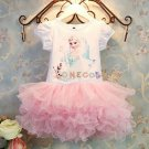Summer Children Bubble Skirt Elsa Anna Girls Cosplay Dress Princess Clothing Baby Girl Dress