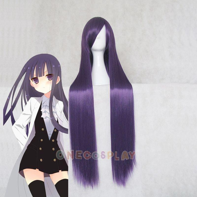 100cm Purple Straight Cosplay Wig Shirakiin Riricho / Matsumoto Rise Cosplay Wig