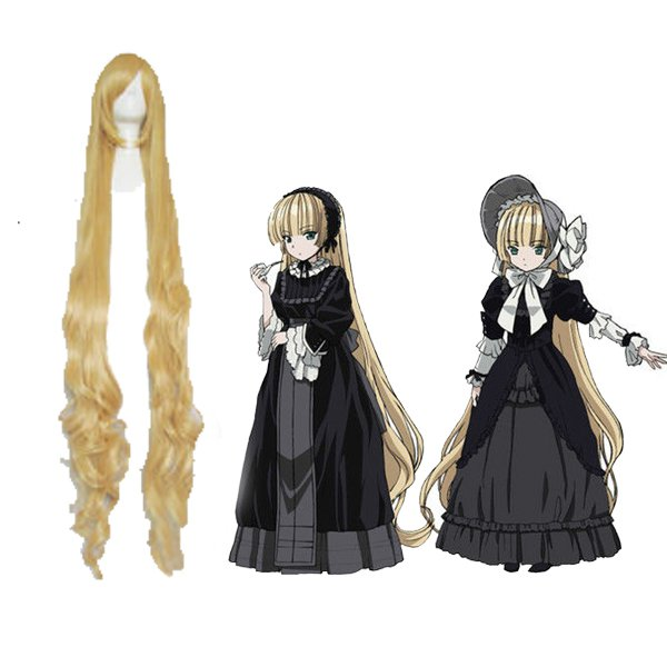 150cm Long Curly Gold Wig GOSICK Victorique De Blois Cosplay Wig