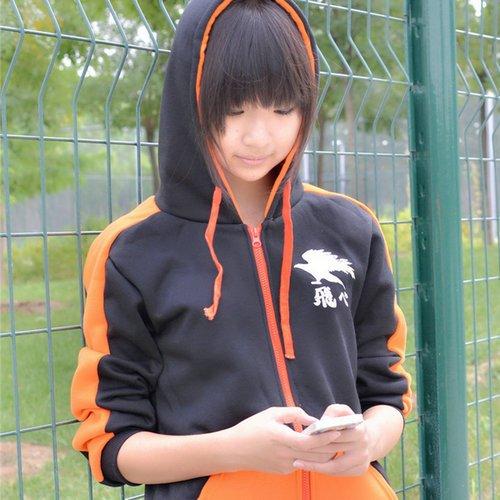 Haikyuu!! Karasuno High School Hinata Syouyou Cosplay Costume Hooded Casual Sportwear Sweatshirt