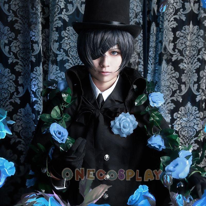 14 Part in 1 set Black Butler Ciel Phantomhive Funeral Cosplay Cotumes Halloween Party Complete set