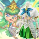 Game LOL The Lady Of Luminosity Cosplay Costumes  LULU Sugar Witch Women Fancy Uniform Clothes