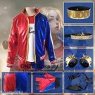 Suicide Squad Harley Quinn Clown Cosplay Costumes Set for Halloween Fancy Outfits