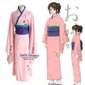 GINTAMA Cosplay Costumes Shimura Tae Kimono Women Halloween Fancy Party Outfits