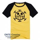 ONE PIECE Trafalgar Law Cosplay Costumes Short-Sleeve T-Shirts Men Tees Tops