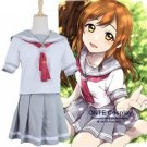 Love Live! Sunshine!! Aqours Takami Chika Cute Sailor Suit Girl Cosplay Costumes