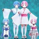 Re:Zero kara Hajimeru Isekai Seikatsu RAM / REM Young Kimono Cosplay Costumes