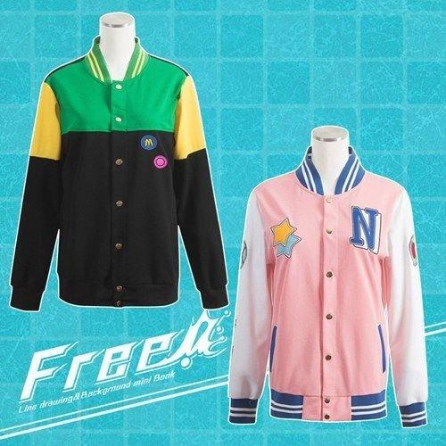 Free! Iwatobi Swim Club Cosplay Costumes Hazuki Nagisa Hoodie Makoto Jacket Coat