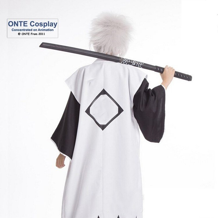 Anime Bleach Cosplay Costume (1st-13th) Division Captain Cos Cloak with Sleeveless Halloween Clothes