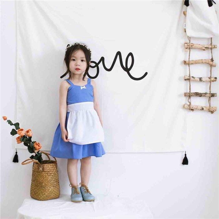 2017 Children's Alice cos Clothes Baby girls summer cotton dress princess overalls dress