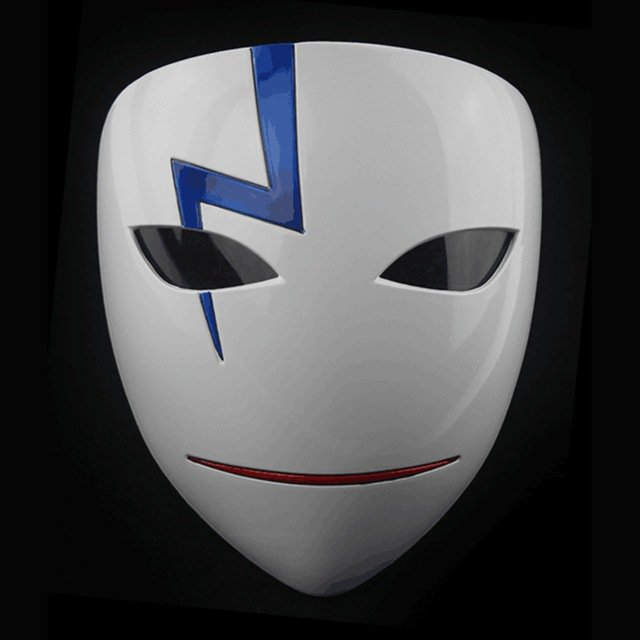 Movie Theme Party Masks Anime Smile Hei Lee Cosplay Props Halloween Darker Than Black Resin Masks