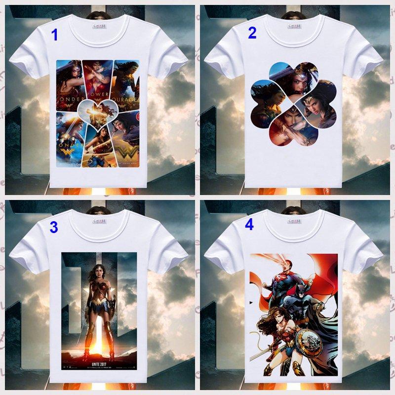 Wonder Woman T Shirt Gal Gadot Print Short Sleeve T-shirts DC Comics Superhero Tops Summer Tees