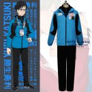 Yuri!!! on Ice Cosplay Clothes Katsuki Yuri Cosplay Costume Blue Sportswear Set