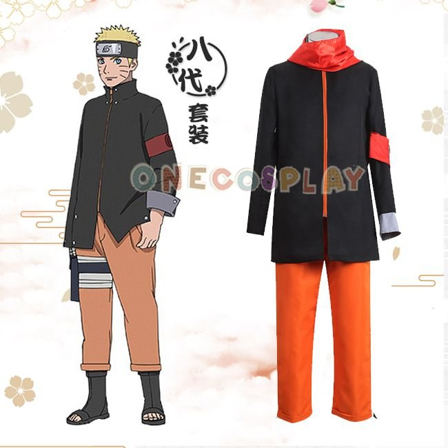 BORUTO -NARUTO THE MOVIE Cos Clothes Uzumaki Naruto 8th Cosplay Costumes  Halloween Ninja Clothes