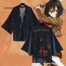 Attack on Titan Chiffon Pajamas Cloaks Rivaille  Yukata Kimono Coat Shingeki No Kyojin Bathrobes