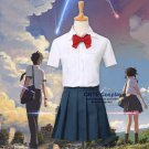 You Name kimi no na wa Cosplay Costumes Miyamizu Mitsuha Tachibana Taki Fancy School Uniform Suit