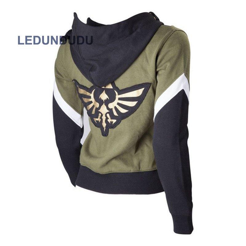 The Legend of Zelda Hoodies Zipper Jackets The Hyrule Fantasy Sweatshirts Coat Cosplay Costumes