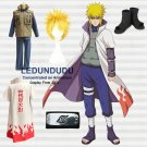 Naruto Cosplay--Yondaime 4th Hokage / Namikaze minato Cosplay Costume with Wig Set
