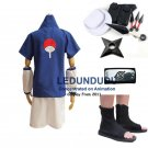 Anime Naruto Uchiha Sasuke 1st Cosplay Costume and Accessories Set
