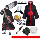 Naruto Akatsuki Hoshigaki Kisame Cosplay Costumes Halloween Party Shoes Accessories Set