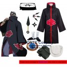 Naruto Cosplay Costumes Akatsuki Kakuzu Cloaks Halloween Party Weapons Shoes