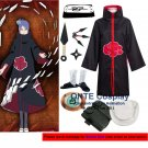 Naruto Cosplay Costumes Akatsuki Konan Cloaks Halloween Party Weapons Shoes