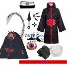 Naruto Cosplay Costumes Akatsuki Sasori Cloaks Halloween Party Weapons Shoes