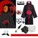 Naruto Cosplay Costumes Akatsuki Uchiha Madara Cloaks Halloween Party Weapons Shoes