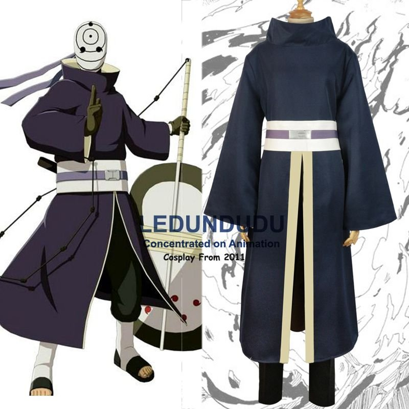 China Customized Naruto Cosplay Clothes Uchiha Obito Uniform Cosplay Costumes