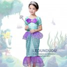 Baby Girls Little Mermaid Princess Dresses Kids Summer Cosplay costumes Fancy Dress