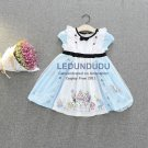 Summer Children's Blue Dress Alice Cosplay Costume Kid Baby Girl  Halloween Party Dress