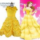 Kids Beauty and the Beast Cosplay Costume Girls Fancy Party Dress Belle Princess Dress