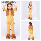 6 in 1 set Children Cute Animal Lion Costumes Kids Girls Halloween Party Cosplay Clothes