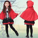 Kids Red Riding Hood Cosplay Costumes Girls Princess Dress Halloween Party Fancy Suit Clothes