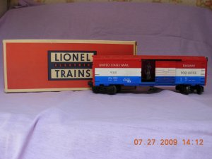 Lionel 6-9301 US Post Office Operating Car Free Shipping