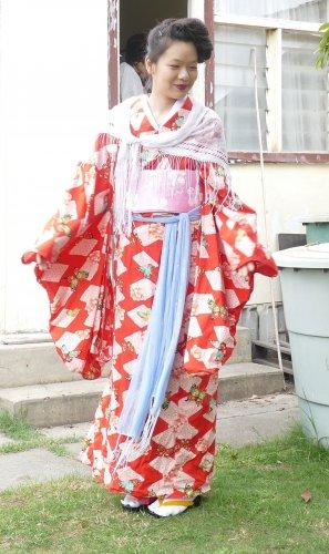 Butterfly Yukata Kimono Rental