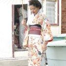 Cream and Orange Kimono Rental