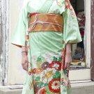 Green Furisode Kimono Rental