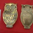 VINTAGE BRASS OWL - STAND/TRINKET TRAY